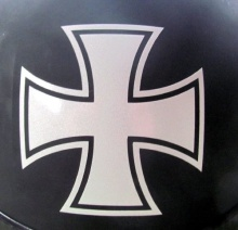 "Car Styling Reflective Maltese Cross - 3"" X 3"" Die Cut Vinyl Decal for Helmets, Windows, Cars, Trucks"