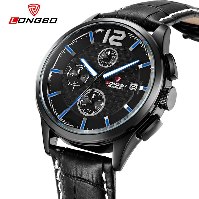 LONGBO 6Pin Top Quality Brand Luxury Men Watches Business Casual Auto Date Quartz Wristwatch Waterproof Male Leather Watch 80178<br><br>Aliexpress