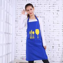 Fashion Unisex Women Man Aprons Coffee Restaurant Composite cloth Home Bib Kitchen Aprons Tableware Pattern New Design Apron(China)