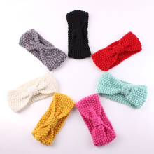 1PC Lovely Cute Kid Turban Ear Warmer Crochet Headband Knitted Hairband Headwrap Band Accessories 7 colors