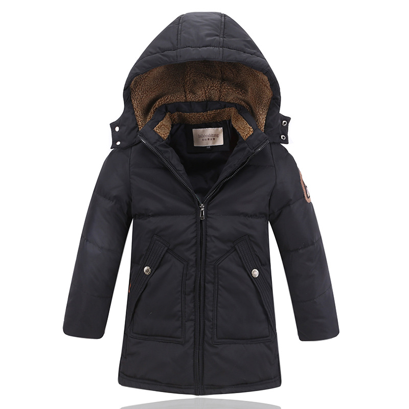 -30 Degree Childrens Winter Jackets Duck Down Padded Children Clothing 2017 Big Boys Warm Winter Down Coat Thickening Outerwear<br>