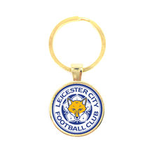 Premier League Football Logo Glass Dome Key Chain For Leicester City Football Club Football Fans' Commemorative Best Gifts(China)