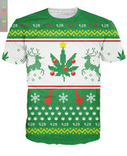 Amazon Ebay Christmas Best Sellers Green Milu 3D Short Sleeve T Christmas Day Goods In Stock(China)