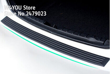 Car Rubber Rear Guard Bumper Protector Trim Cover car sticker plate for Volkswagen VW Passat B5 B6 b7(China)