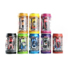 Multicolor Coke Can Mini Speed RC Radio Remote Control Micro Racing Car Toy for Children(China)