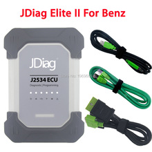 Wifi JDiag Elite II For Mercedes Benz OBDII J2534 Diagnostic ECU Coding Tool OBD2 Scanner Replace MB Star SD Connect Compact C4(China)