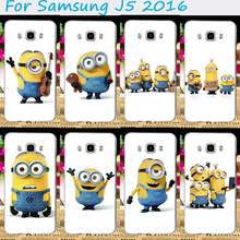 Popular Style Cellphone Skin For Samsung Galaxy J5 2016 J510F SM-J5108 Cases Yellow Lovely Minions Plastic and Silicon Cover