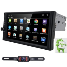 Quad Core Pure Android6.0 Car Multimedia Player Car PC Tablet 2din 7''GPS Navigation Bluetooth Steering Wheel Mirror RDS DVR DAB