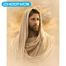 Diamond Painting Jesus Sacred Heart White Robe Scarf Image DIY 3D Diamond Embroidery Christian Picture Mosaic Drawings(China)