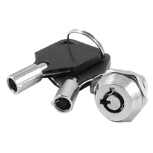 Cabinet Door Quarter Turn Security Tubular Cam Lock w Keys