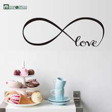 22*60CM Monochrome Love Sitting Room Sofa Decorate Bedroom Wall Stick English Stickers Foreign Trade Source Manufacturers