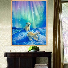 Buy % Hot Diamond painting Northern Baby polar bear DIY 5D crystal Rhinestone mosaic Cross Stitch Diamond Embroidery Kits Needlework for $2.84 in AliExpress store
