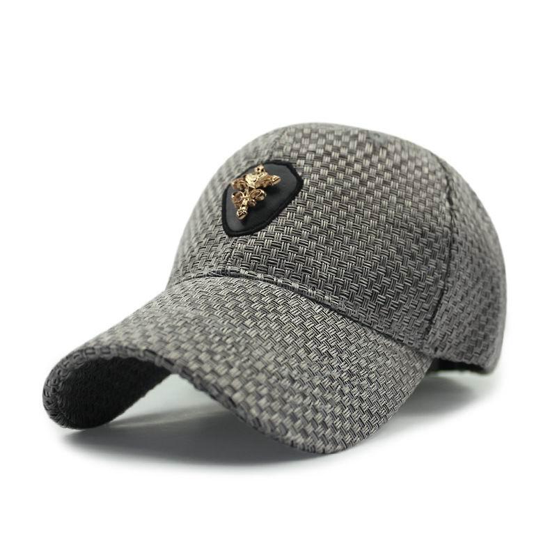 New Brand Flax Summer Baseball Hat Short Brim Visor Autumn Fashion Shade Hat Male Sport Hat Sunscreen Sunhat<br><br>Aliexpress