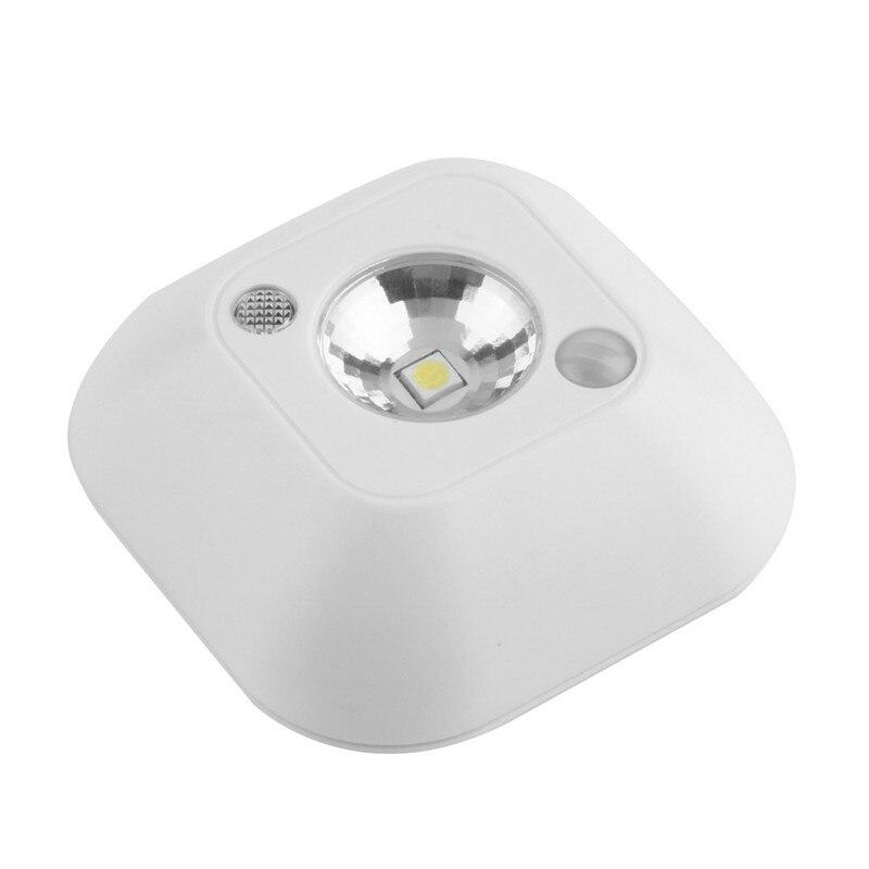 LED Mini Wireless Infrared Motion Sensor Night Light Wall Emergency Wardrobe Cabinet Night Lamp atmosphere light 4