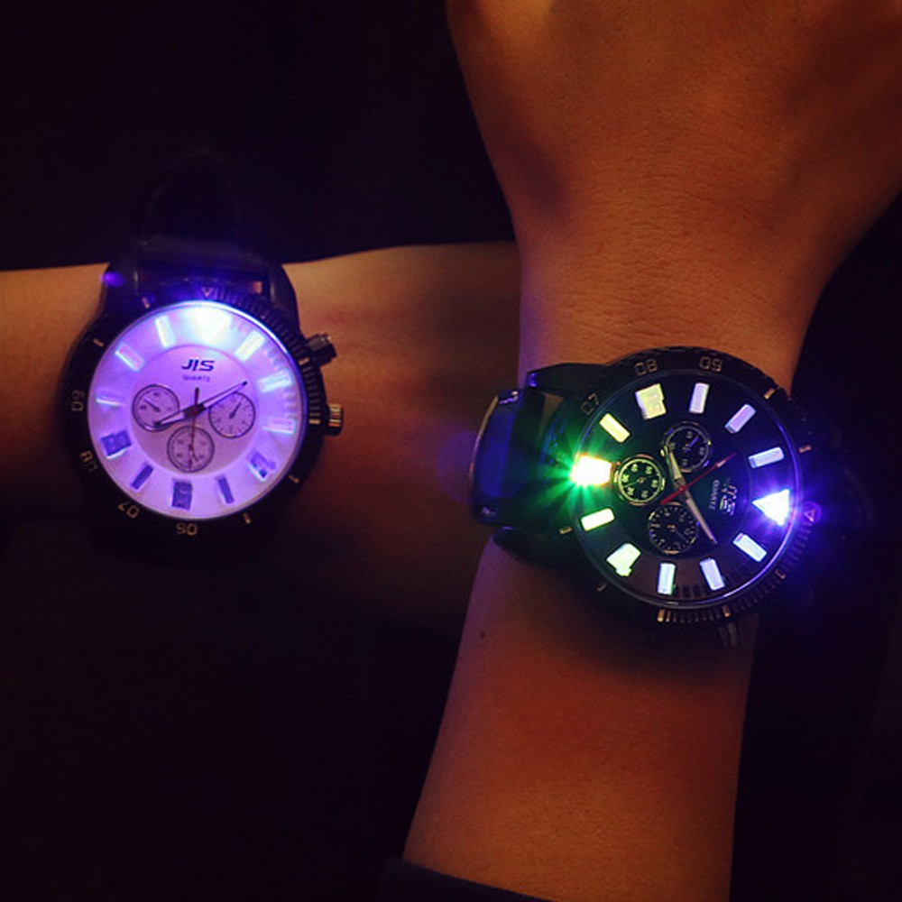 Fashion Casual Unique Glow lover Couple Men Women Watches Quartz Analog Luminous Wrist  Watches Creative Design Relogio Present<br><br>Aliexpress