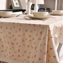 Variety of Woven Dobby Linen Tablecloth High Quality Pastoral Style Table Cloth for Restaurant Free Shipping(China)