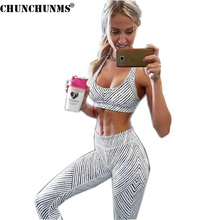 2017 Fitness Woman Tracksuits Printed Brief Female Two Piece Woman Set Cropped Top And Capris Summer Woman Set S08