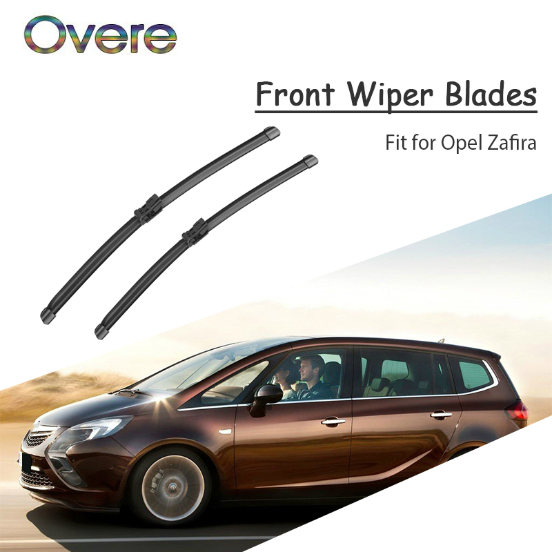 Overe 1Set Rubber Car Front Wiper Blade Kit For Opel Zafira A B Tourer 2018 2017-1998 Original replace Accessories(China)