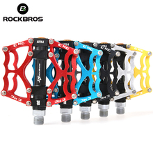 "RockBros MTB BMX DH Bike Bicycle Ultralight Pedals Aluminum Body Axle 9/16"" Cr Mo Spindle Cycling Sealed Bearing Pedals 3 Styles(China)"