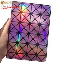 "Case For ipad air 2 9.7"" Luxury fashion laser diamond bling colorful smart cover for ipad air 9.7 inch cover for ipad 5 & 6(China)"