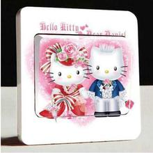1 pcs Lovely Hello Kitty Light Switch Stickers 3d Fashion Ideas Hello Kitty Wall Stickers Kids Room Decorative Light Switches(China)