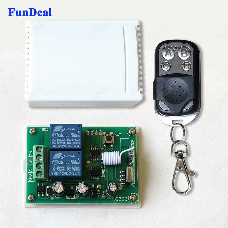 433Mhz Universal Wireless Remote Control Switch DC 12V 10A 2CH Relay Receiver Module with RF Transmitter 433 Mhz Remote Controls(China)