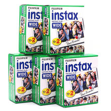 5pcs Fujifilm Instax Wide Film Plain Edge Twin Pack Version (Total 100 Photos) Instant Film for Camera 200 210 Free Shipping