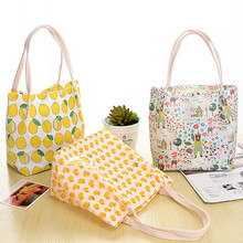Japan South Korea animal safety waterproof portable hand bag student cartoon print fruit food bag smart girls portable bags