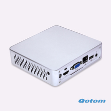 New Micro PC  Q190N-S03 DC 12V 1080P HD video HTPC Home  media player Pc Win 10 Fanless