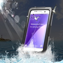 Waterproof Case For Samsung Galaxy S7 Edge IP-68 Heavy Duty Hybrid Swimming Dive Hard Cover Water Dirt Shock Proof Phone Bag(China)