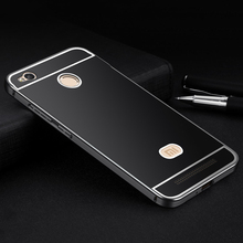 "Aimak Brand Aluminum Metal Frame & PC Back Cover Case For Xiaomi Redmi 3 Redmi3 Pro 3S 3X 5.0"" Mobile Phone Cover"