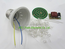 Free Shipping 10pcs/lot Energy-Saving 38 LEDs Lamps DIY Kits Electronic Suite