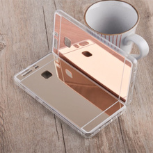 Luxury Silicone Mirror Case For Huawei P10 P9 Lite P8 Lite 2017 GR5 Y6 II Y62 Nova Mate 9 Honor 8 Lite 5X 4C 4X 6X 6C 7 Cover