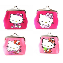 Cute high quality helloKitty pyrograph nylon fabric purses zero wallet child girl women,lady zero wallets,coin bag Free shipping(China)
