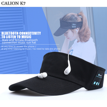 CALION K7 Summer Bluetooth Earphone Sun Hat Support Music Phone Call Wireless Headphones Caps Baseball Headset Hats Built In Mic(China)