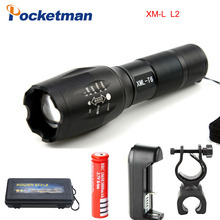 E17 CREE XM-L2 8000LM Tactical cree Led Torch Zoom cree LED Flashlight Torch light 3xAAA 1x 18650 Rechargeable