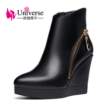 Universe women's Boots Wedge Heel ladies Boots super High heel winter Boots E183(China)
