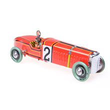Vintage Windup Classic Red Race Car Model Iron Metal Handicraft Clockwork Tin Vehicle Toy Restoring Ancient Toy Collectable Gift(China)