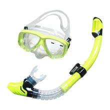 Adult Professional Silicone Snorkel Anti-Fog Diving Mask Full Dry Breathing Tube Set Swimming Glasses Diving Equipment Blue Pink(China)
