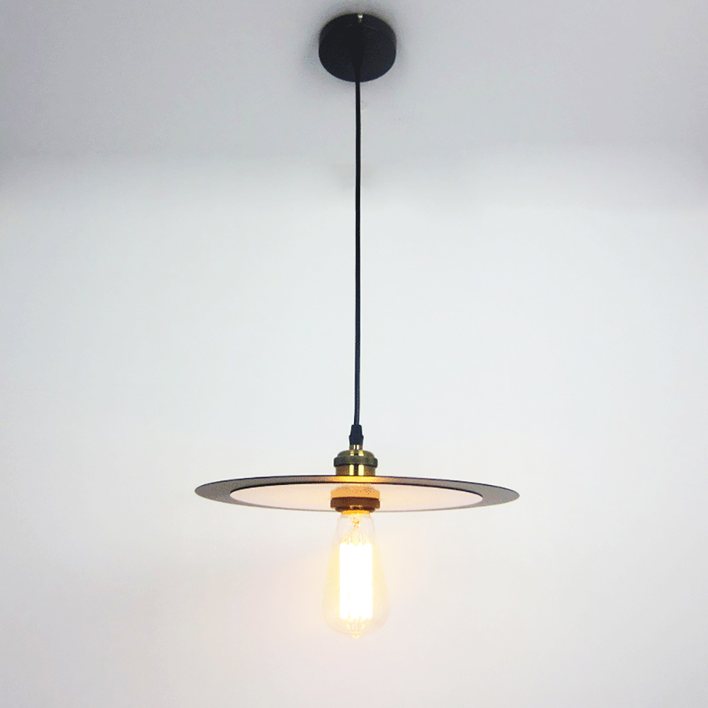 Elegant black white shade level vintage pendant lamp for Kitchen Lights cord e27 Living room american brief light Fixture cafe<br>