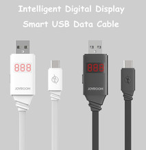 Original Joyroom JR-ZS200 Intelligent LED Digital Display Data Cable Safe Charging iPhone 5 5S 6 6S Plus Android Smartphone - Topstrong Electronics store