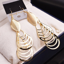 2 color 2016 new fashion lady Drop Earrings India folk style retro long Tassel Earrings and jewelry wholesale manufacturers
