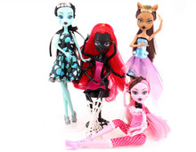 High Quality Monster hight school Doll Draculaura/Clawdeen Wolf/Frankie Stein/Black WYDOWNA Spider Moveable Body Girls Toys Gift(China)