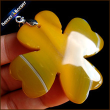 Natural Stone Leaf Shape Agates Slice Beads Charm Pendant Crystal Carved Jewelry Findings for Necklace Making Vintage Gift IS729(China)