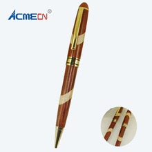 ACMECN Novelty Design Hand-made Craft Eco-friendly Vintage Wooden Ballpoint Pens MB style Cute Office & School Gifts(China)