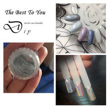 Amazing 1g/Box Shiny Holographic Nail Glitter Holo Laser Rainbow Powder Nails Chrome Pigment Dust Manicure Nails Art Decorations