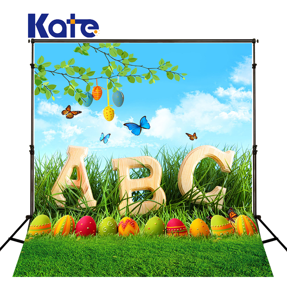 5x7ft Kate Photography Props Easter Spring Photography Background Nature Butterfly Egg Photography Scenic Backdrops for Children<br>
