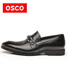 OSCO Factory direct Fashion Men Shoes Genuine Leather Men Dress Shoes Men's Business Slip on Gentleman Shoes Man #RU0005(China)