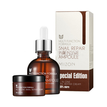MIZON Snail Repair Intensive Ampoule Special Edition (Ampoule 30ml+Cream 30ml) Face Cream Serum Skin Care BEST Korea Cosmetic(China)