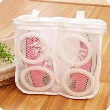 New Fashion White Collection Organizer Bags Mesh Laundry Bags Shoes Dry Shoe Portable Washing Bags Organizer